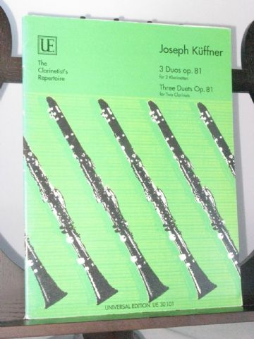 Kuffner J - 3 Duets Op 81 for 2 Clarinets